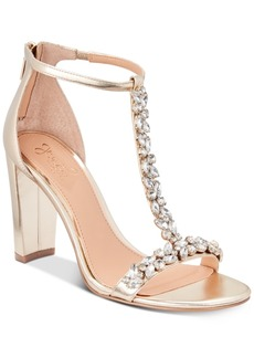 Jewel Badgley Mischka Morley Embellished Evening Sandals Women's Shoes