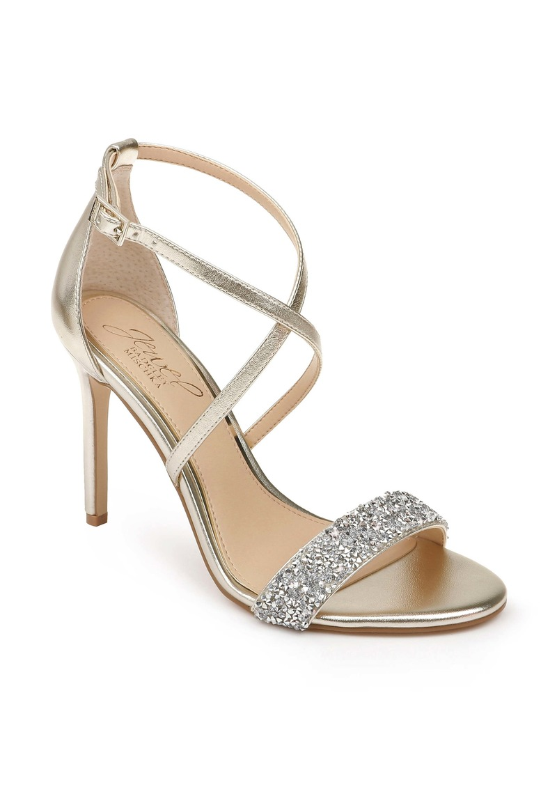 Jewel Badgley Mischka Nanna Embellished Sandal (Women)