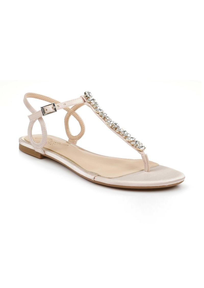 Jewel Badgley Mischka Natalie Embellished Sandal (Women)