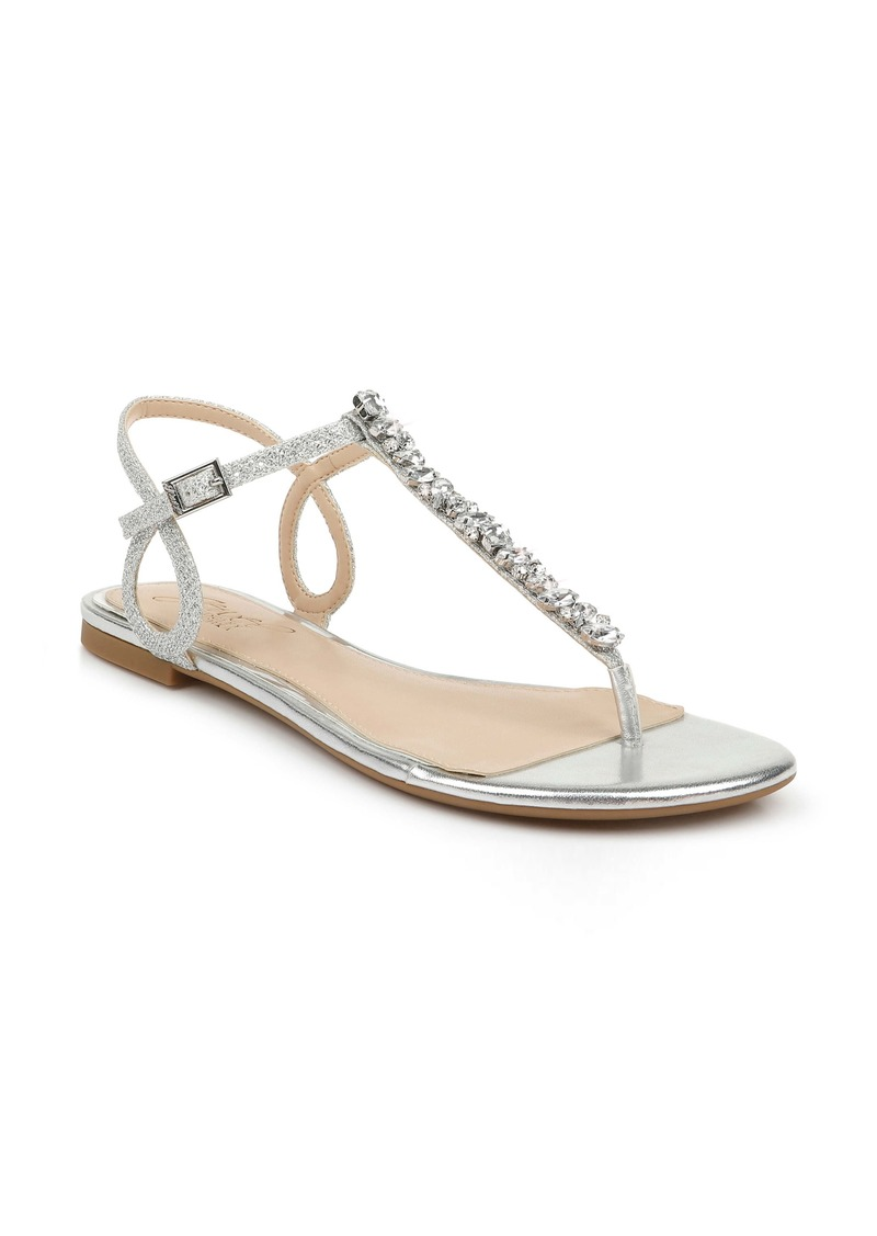 Jewel Badgley Mischka Natalie Embellished Sandal (Women)