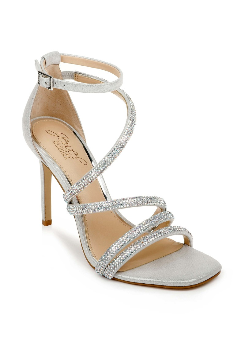 Jewel Badgley Mischka Nikkol Crystal Embellished Sandal (Women)