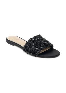 Jewel Badgley Mischka Noland Embellished Slide Sandal (Women)