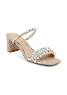 Jewel Badgley Mischka Orsen Embellished Slide Sandal (Women)