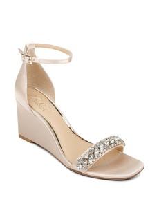 Jewel Badgley Mischka Peggy Ankle Strap Wedge Sandal (Women)