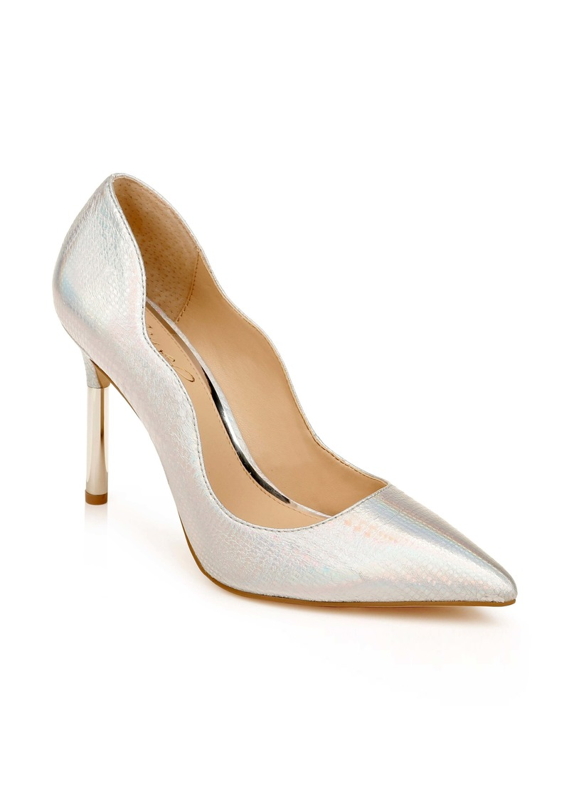 Jewel Badgley Mischka Riley Glitter Pointed Toe Pump (Women)