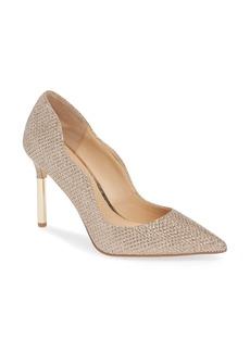 Jewel Badgley Mischka Riley Glitter Pointed Toe Pump (Women)