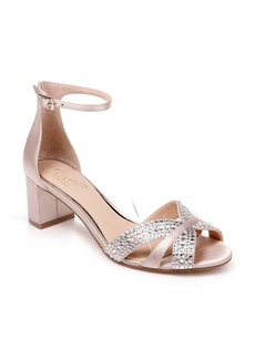 Jewel Badgley Mischka Sequoia Crystal Embellished Ankle Strap Sandal (Women)