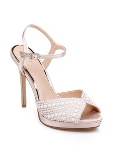 Jewel Badgley Mischka Shane Embellished Platform Sandal (Women)