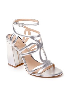 Jewel Badgley Mischka Shari Metallic Strappy Sandal (Women)