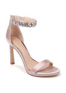 Jewel Badgley Mischka Sierra Crystal Ankle Strap Sandal (Women)
