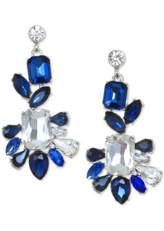 Jewel Badgley Mischka Silver-Tone Crystal & Stone Drop Earrings