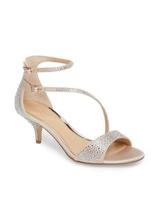 Jewel Badgley Mischka Tangerine Crystal Embellished Sandal (Women)