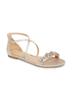 Jewel Badgley Mischka Tessy Embellished Sandal (Women)