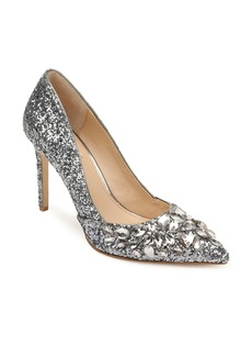 Jewel Badgley Mischka Ulyana Crystal Glitter Pump (Women)
