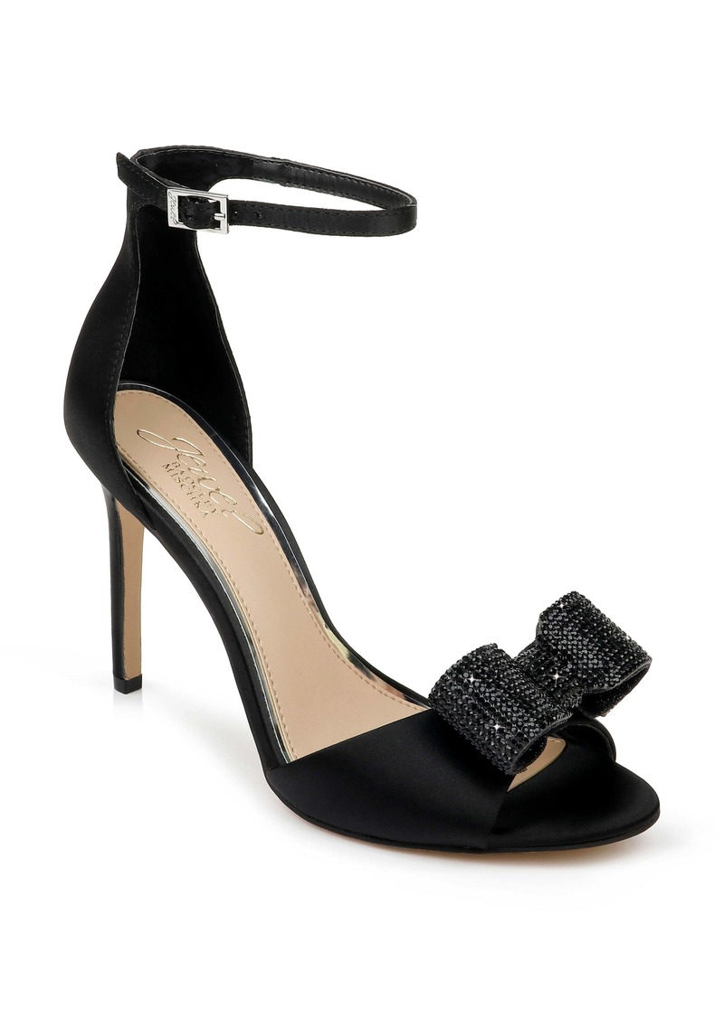 Jewel Badgley Mischka Urania Crystal Bow Ankle Strap Sandal (Women)