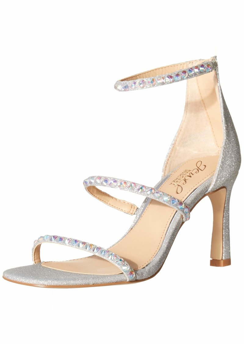 Jewel Badgley Mischka Women's 3 Band Heeled Sandal