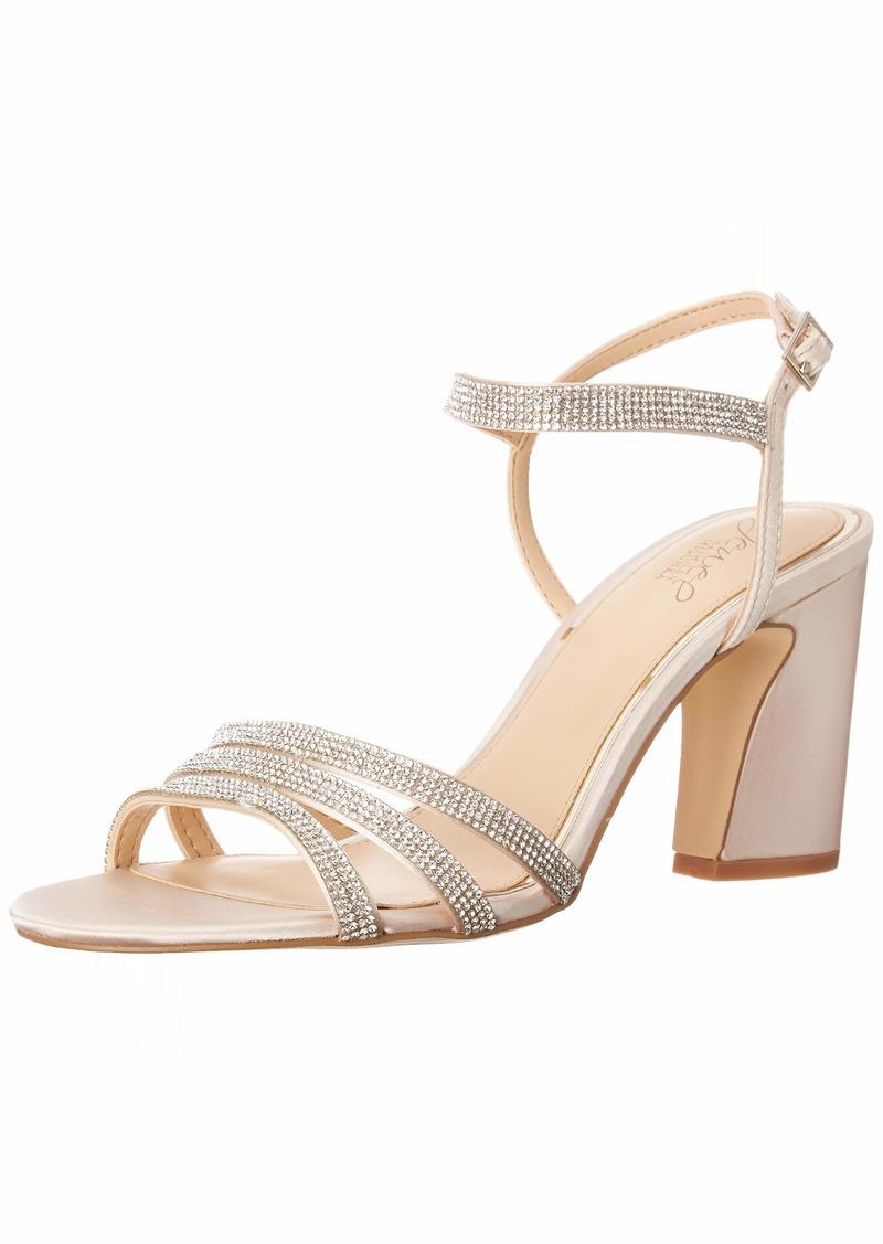 Jewel Badgley Mischka Women's Brighton Heeled Sandal   Medium US