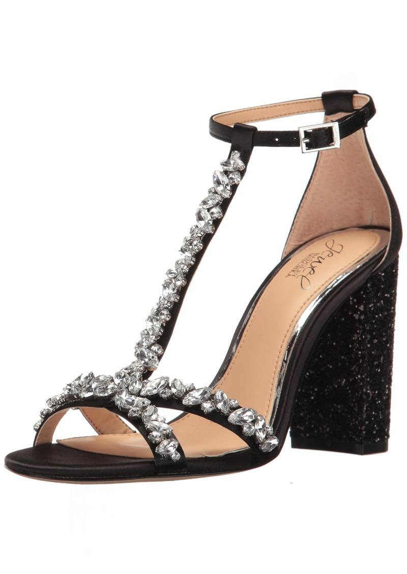 Jewel Badgley Mischka Women's Carver dress Sandal black  M US