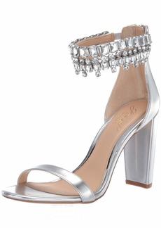 Jewel Badgley Mischka Women's DANCER Sandal silver/metallic  M US