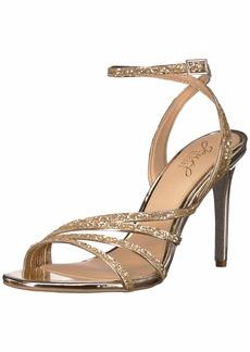 Jewel Badgley Mischka Women's DESIREE Sandal gold glitter  M US