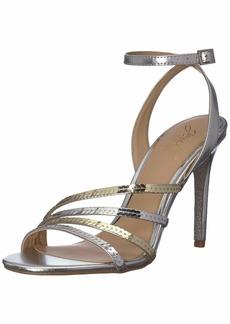Jewel Badgley Mischka Women's DEVONEE Sandal silver/gold  M US