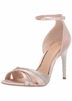 Jewel Badgley Mischka Women's DIABLO Sandal champagne satin  M US