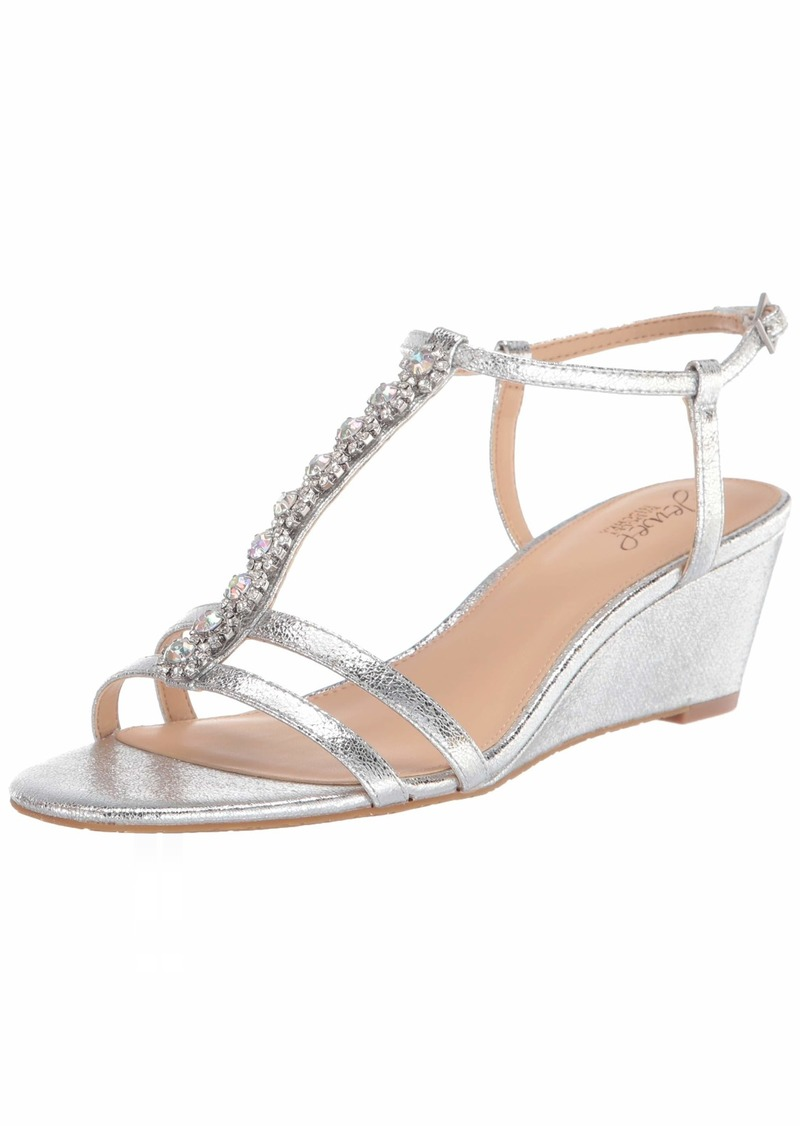 Jewel Badgley Mischka Women's Farah Wedge Sandal