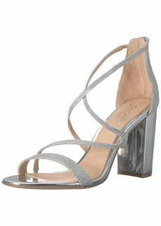 Jewel Badgley Mischka Women's GALE Sandal silver 9.5 Medium US