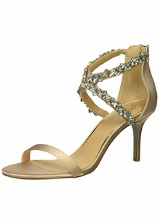 Jewel Badgley Mischka Women's JAYLEE Sandal champagne  Medium US