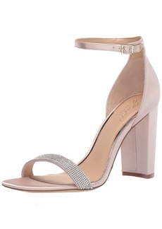 Jewel Badgley Mischka Women's KESHIA III Sandal champagne satin  M US