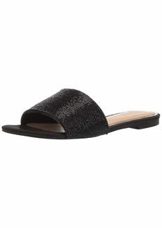 Jewel Badgley Mischka Women's KHALEESI Sandal black satin  M US