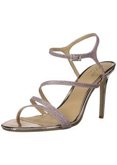 Jewel Badgley Mischka Women's Maddison Sandal rosegold glitter  Medium US