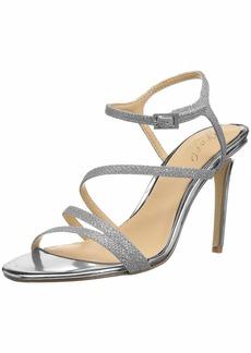 Jewel Badgley Mischka Women's Maddison Sandal silver glitter  Medium US