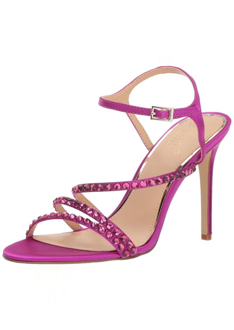 Jewel Badgley Mischka Women's MARIMBA Sandal violet satin M00 M US
