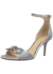 Jewel Badgley Mischka Women's MIGUELA Sandal silver satin M075 M US