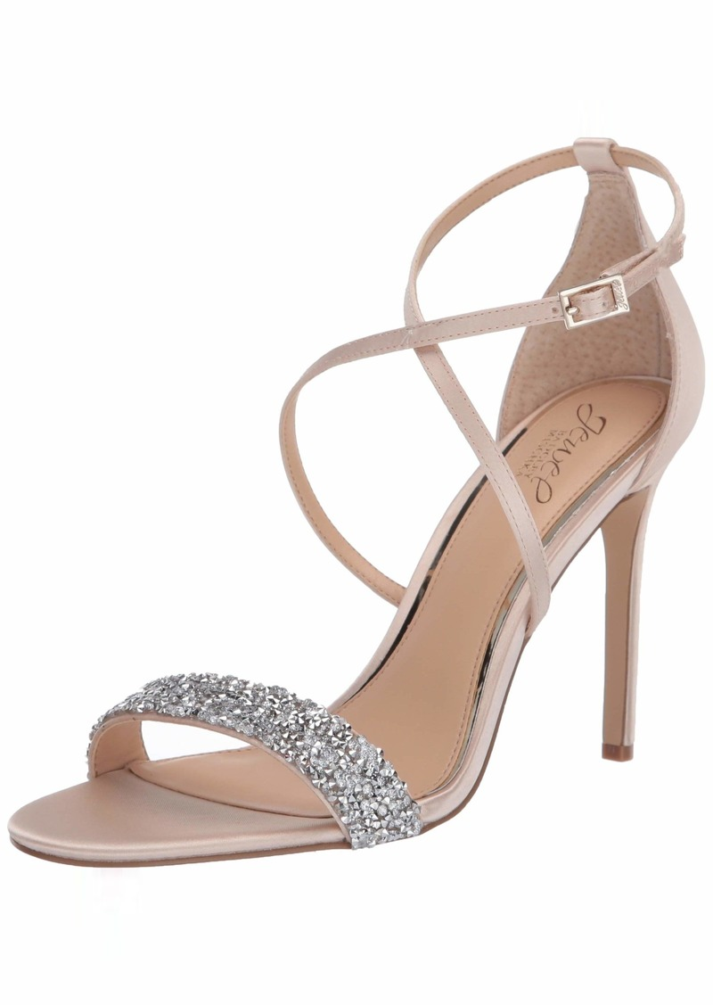 Jewel Badgley Mischka Women's Nanna Heeled Sandal   Medium US
