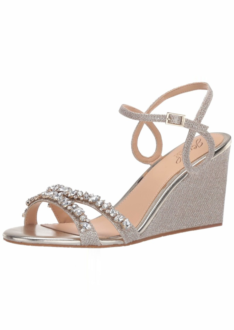 Jewel Badgley Mischka Women's Nell Wedge Sandal   Medium US