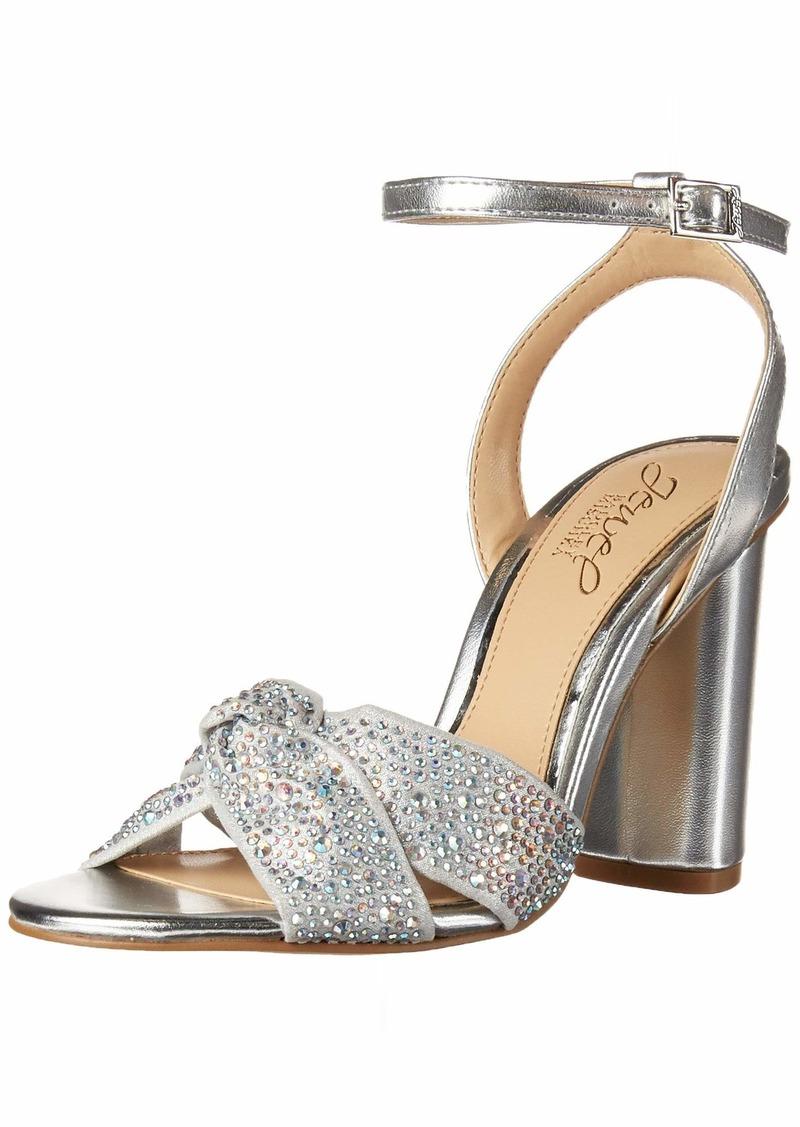 Jewel Badgley Mischka Women's Nicoline Heeled Sandal   Medium US