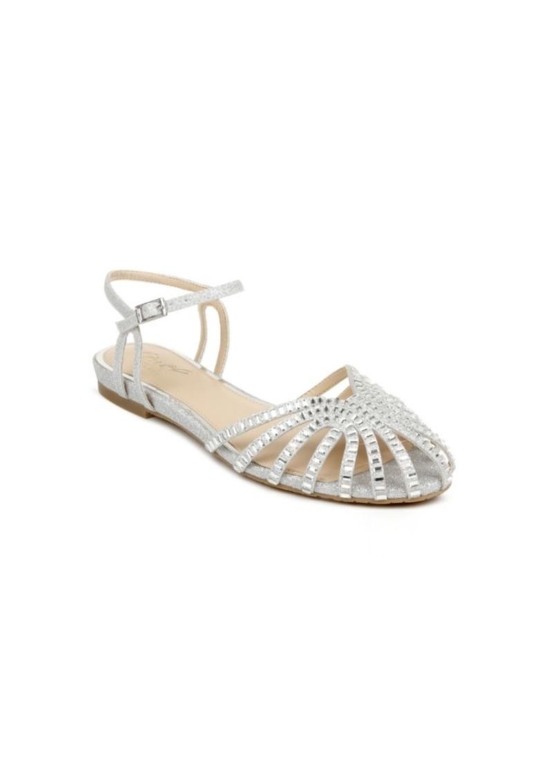 Jewel Badgley Mischka Women's Perla Flat Evening Sandal Women's Shoes