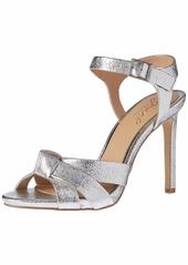 Jewel Badgley Mischka Women's RICHMOND Sandal silver textile  M US