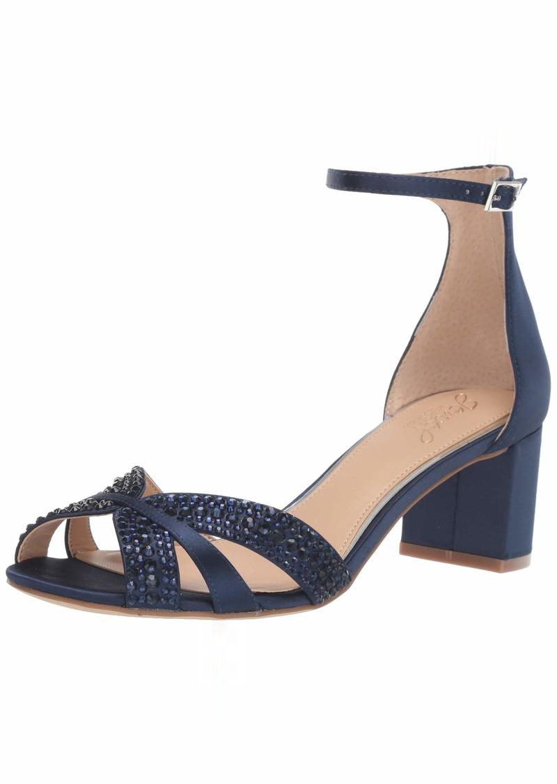 Jewel Badgley Mischka Women's Sequoia Heeled Sandal   M US
