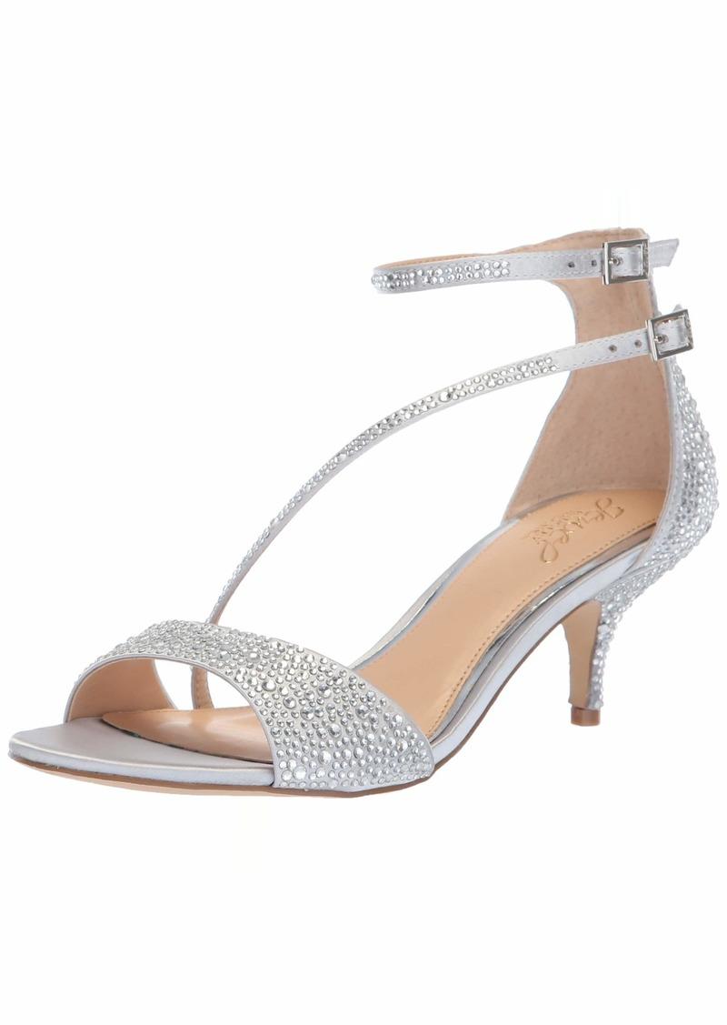 Jewel Badgley Mischka Women's Tangerine Sandal silver  Medium US