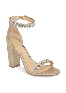Jewel by Badgley Mischka Mayra Embellished Ankle Strap Sandal (Women)