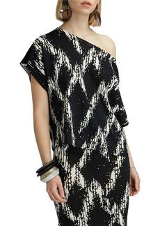 Badgley Mischka Katie Off-the-Shoulder Knit Top