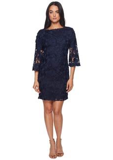 Badgley Mischka Lace Bell Sleeve Dress