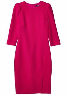 Badgley Mischka Long Sleeve Crepe Dress
