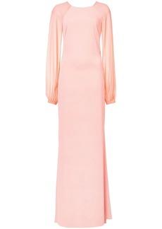 Badgley Mischka longsleeved gown