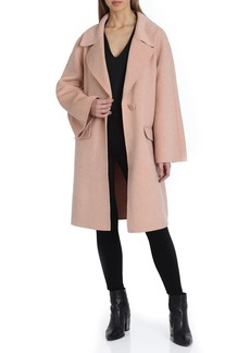 Badgley Mischka Madi Flare-Sleeve Wool Coat