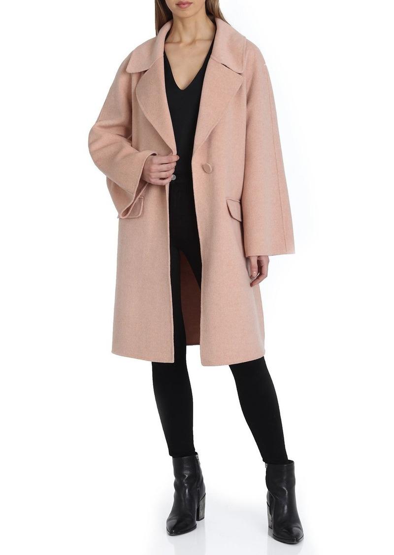 Badgley Mischka Madi Flare-Sleeve Wool Coat