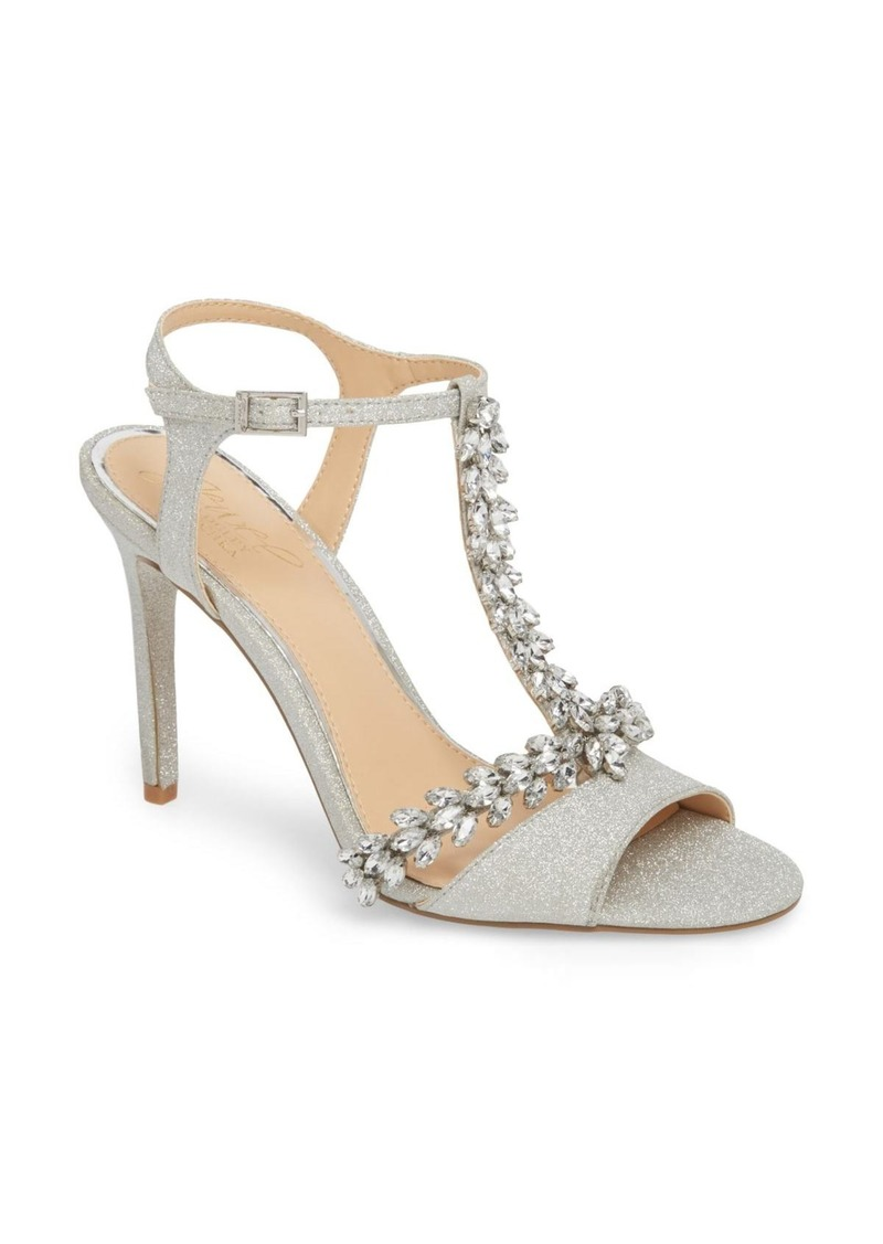 Badgley Mischka Maxi Crystal Embellished Sandal (Women)